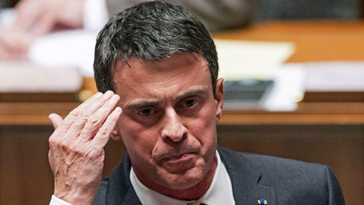 """(Le premier ministre Manuel Valls juge """"indispensable"""" la création d'un centre de déradicalisation © Maxppp)"""