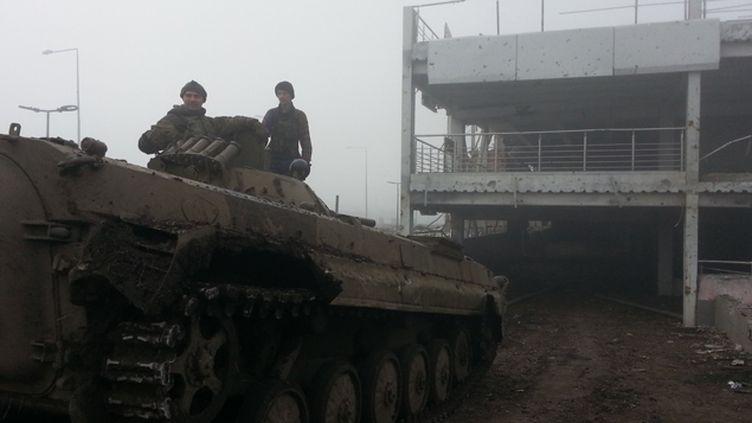 (L'aéroport détruit de Donetsk © RF/ Cécilia Arbona)