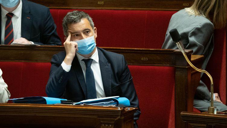 Le ministre de l'Intérieur Gérald Darmanin assiste à la séance de questions au gouvernement à l'Assemblée nationale, le 29 juin 2021 à Paris. (CARINE SCHMITT / HANS LUCAS / AFP)