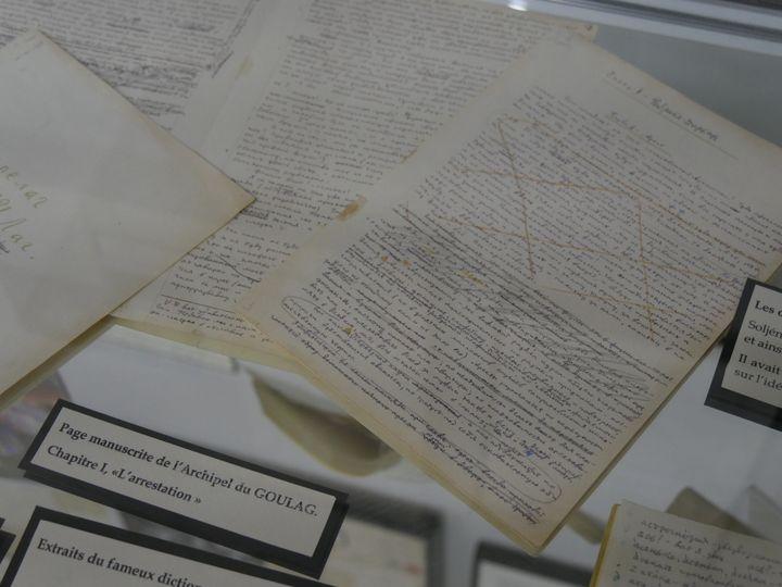 """Manuscrit """"L'Archipel du Goulag"""", premier chapitre  (Laurence Houot / Culturebox)"""