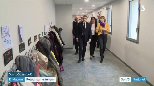 Emmanuel Macron de retour sur le terrain dans le Lot