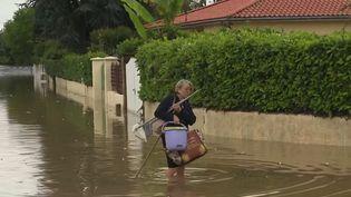 Cent millimètres de pluie sont tombés en 24 heures à Latresne, en Gironde. (CAPTURE ECRAN FRANCE 2)
