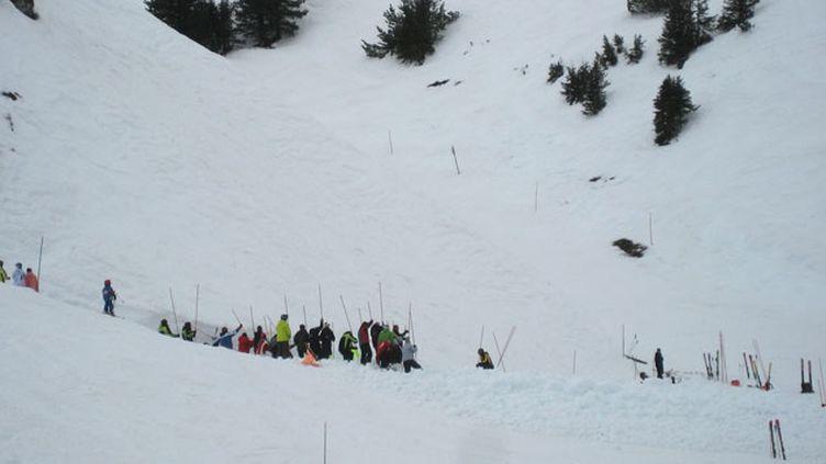 (Intervention de secours après une avalanche © RF/ Catherine Grain)