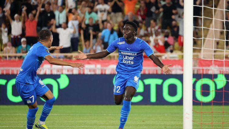 Bamba Dieng a signé un doublé face à Monaco samedi 11 septembre. (VALERY HACHE / AFP)