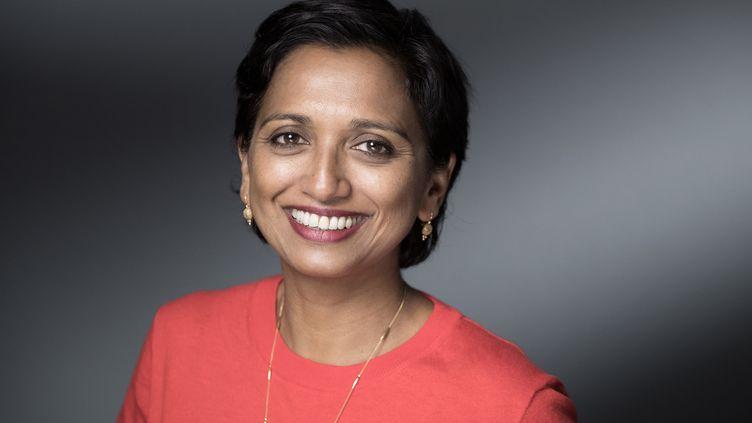 La romancièreNathacha Appanah le 28 septembre 2019 à Manosque (JOEL SAGET / AFP)