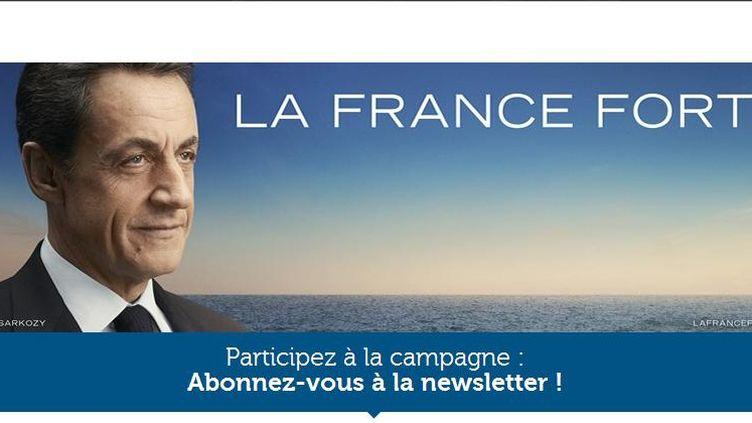 Nicolas Sarkozy a lancé son site de campagne (Capture d'écran)