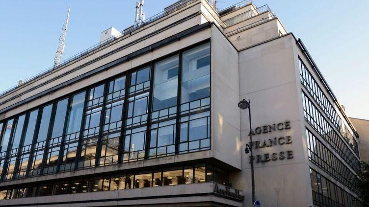 Le siège de l'AFP, place de la Bourse à Paris, le 27 septembre 2015. (AFP / BERTRAND GUAY)