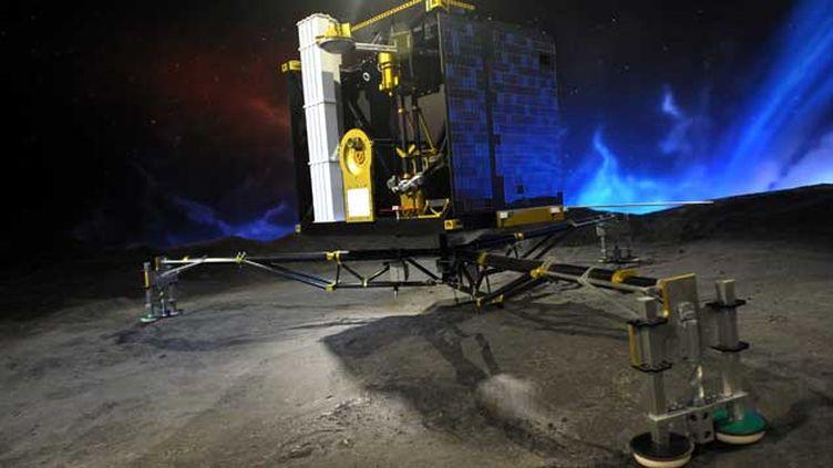 (Le robot Philae a émis un signal depuis la comète Tchouri, capté samedi soir, preuve qu'il est toujours en état de fonctionnement. Photo d'illustration © Maxppp)