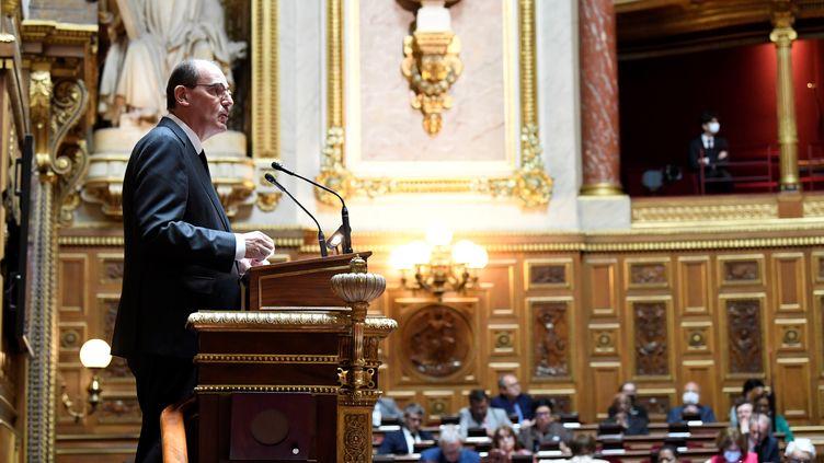 Le Premier ministre Jean Castex devant le Sénat le 16 juillet 2020. (BERTRAND GUAY / AFP)