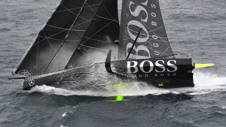 Le bateau d'Alex Thomson, le monocoque Hugo Boss (MARINE NATIONALE / NEFERTITI)
