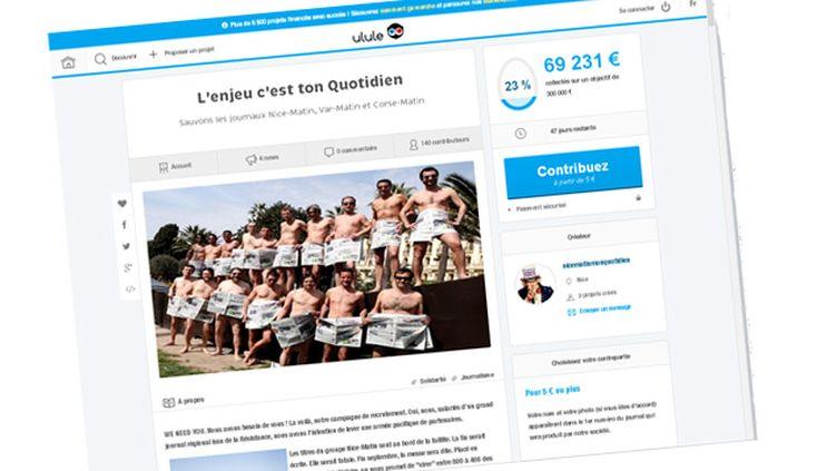(Les salariés de Nice Matin ont ouvert un appel aux dons sur la plateforme Ulule © Capture d'écran)