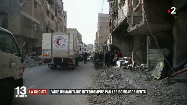 Syrie : l'aide humanitaire interrompue par des bombardements à la Ghouta