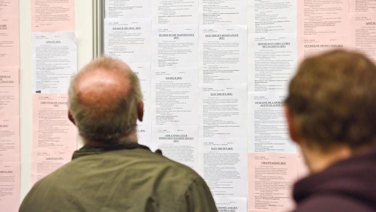 Un homme consultant des offres d'emploi (image d'illustration). (JEAN-LUC FL?MAL / MAXPPP)