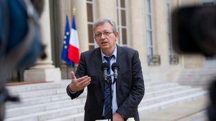Pierre Laurent, secrétaire général du PCF, le 4 juin 2012 à l'Elysée, à Paris. (BERTRAND LANGLOIS / AFP)