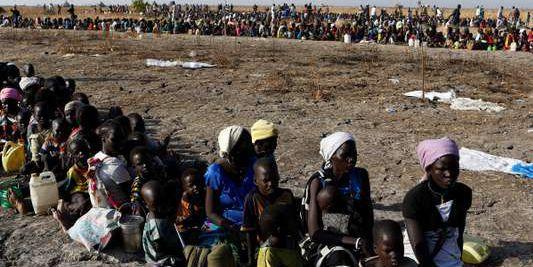 Distribution de nourriture du Programme alimentaire mondial à Thonyor (Soudan du Sud) février 2017.  (SIEGFRIED MODOLA/REUTERS )