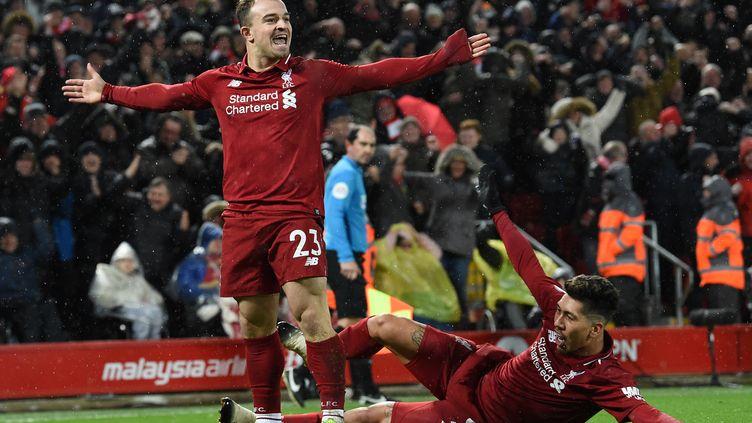 Shaqiri a délivré Liverpool (PAUL ELLIS / AFP)