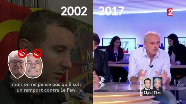 2002 vs 2017 : les consignes de vote face à Le Pen