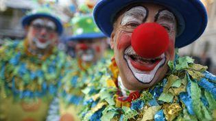 Des clowns participent à une parade à l'occasion de Thanksgiving, à New York, le 22 novembre 2012. (CARLO ALLEGRI / REUTERS)