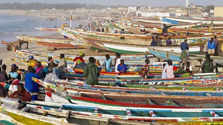 Le port de Kayak est le plus grand port de pêche au Sénégal. Les prises y sont de plus en plus maigres comme sur toute la côte ouest-africaine. (Photo AFP/Bruno Morandi)
