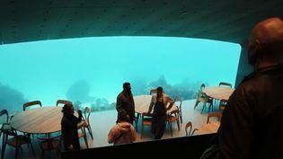 En Norvège, le premier restaurant sous-marin a vu le jour. Les clients pourront manger tout en observant les poissons dans leur milieu naturel. (FRANCE 2)