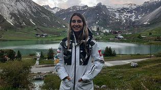 Perrine Laffont,championne du monde de ski de bosses. (SEBASTIEN BAER / RADIO FRANCE)