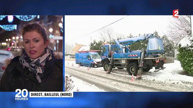 Hauts-de-France : la neige prive 40 000 foyers d'électricité