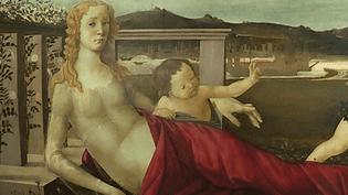 """Détail de """"La Vénus aux trois puttis"""", Botticelli  (France 3/Culturebox / capture d'écran/ Petit Palais Avignon / Musée du Louvre)"""