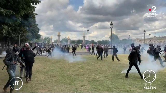 Paris : la manifestation des soignants dégénère