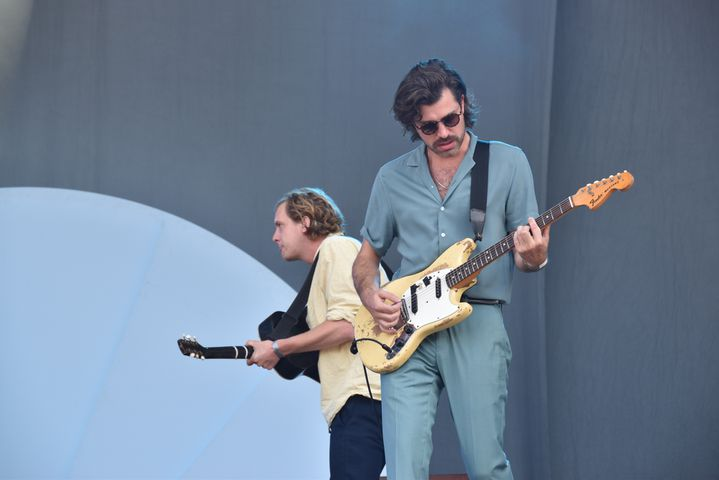 Maarten Devoldere etJinte Deprez du groupe Balthazar à Rock en Seine 2019 (Olivier Flandin / FTV)