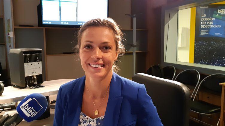 Caroline Janvier, députée LREM du Loiret, le 5 septembre 2019. (ANNE OGER / RADIOFRANCE)