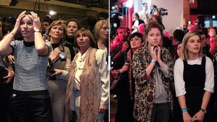 A gauche, des supporters Lionel Jospin le 21 avril 2002. A droite, des partisans de Benoît Hamon le 23 avril 2017. (AFP)