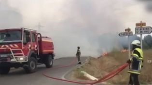 Istres : d'importants moyens pour maîtriser un nouvel incendie (FRANCE 2)