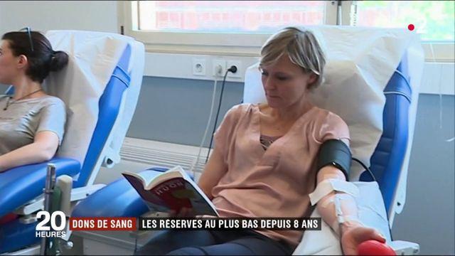 Dons de sang : les réserves sont au plus bas depuis 2011