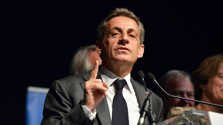 Nicolas Sarkozy, le 10 mars 2016 à Morestel (Isère). (ALLILI / SIPA)