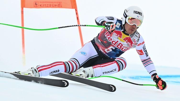 Johan Clarey signe une très belle 2e place sur la descente de Kitzbühel, en janvier 2021 (JOE KLAMAR / AFP)