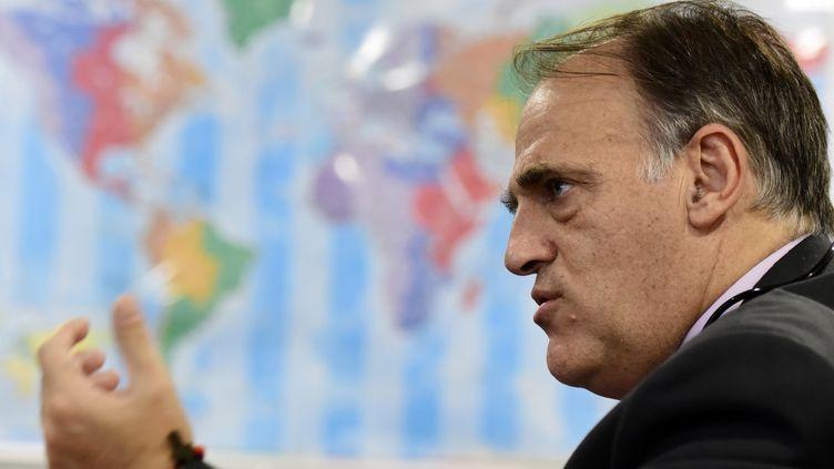 Javier Tebas, président de la Ligue professionnelle espagnole (JAVIER SORIANO / AFP)