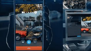 Capture d'écran de la vidéo de présentation de l'application Reporty, testée à Nice (Alpes-Maritimes),à partir du 15 janvier 2018. (CAPTURE ECRAN / FRANCEINFO)