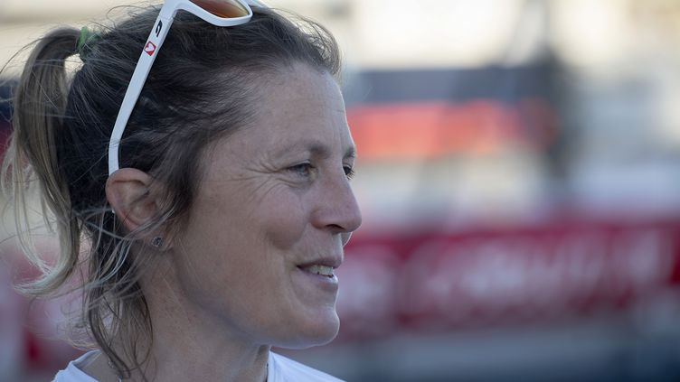 La navigatrice Samantha Davies participe au Vendée Globe. (RODGER BOSCH / AFP)