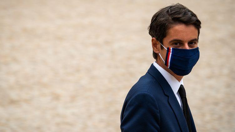 Le porte-parole du gouvernement Gabriel Attal, le 23 juin 2021 à Paris. (XOSE BOUZAS / HANS LUCAS / AFP)