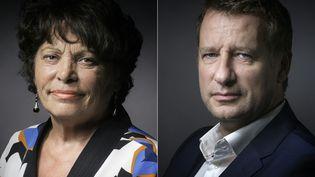 Michèle Rivasi et Yannick Jadot sont les deux finalistes de la primaire écologiste, le 19 octobre 2016. (JOEL SAGET / AFP)