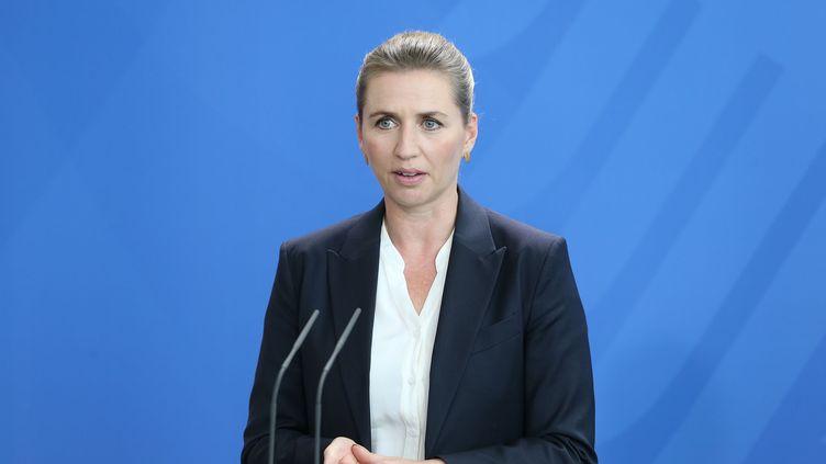 La Première ministre danoise, Mette Frederiksen, lors d'une visite à Berlin le 11 juillet 2019. (CUNEYT KARADAG / ANADOLU AGENCY / AFP)