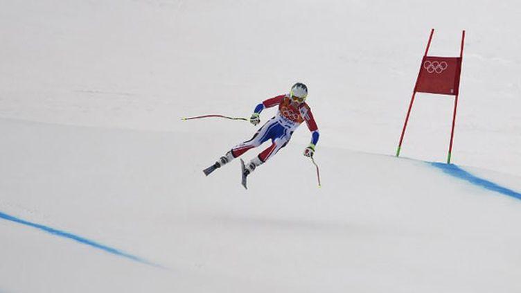 Le Français Alexis Pinturault à l'entraînement de la descente