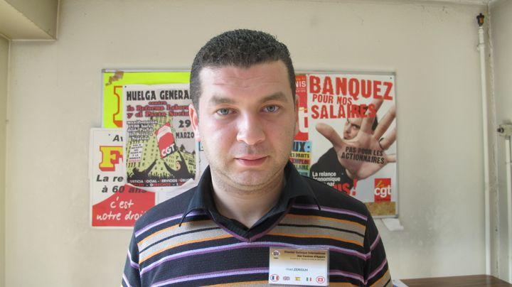Imad Zeriouh, responsable national des syndicats des centres d'appels au Maroc, a travaillé pendant sept ans dans une plate-forme d'appels. (MYRIAM LEMÉTAYER)