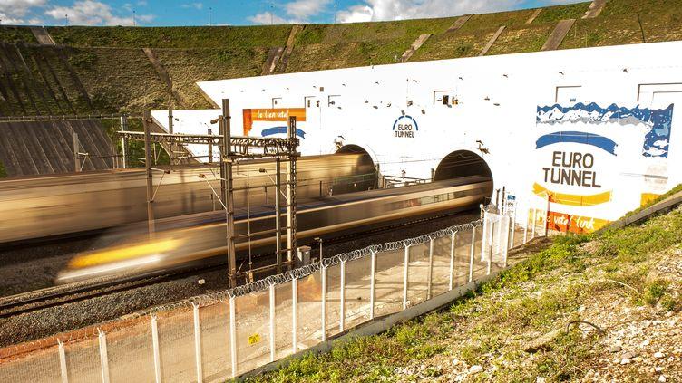 L'entrée du tunnel sous la Manche, côté français, à Coquelles (Pas-de-Calais). (PHILIPPE HUGUEN / AFP)