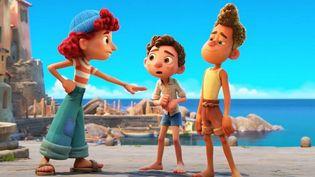 Le trio de personnages (Giulia, Luca, Alberto) fonctionne à merveille. (PIXAR)