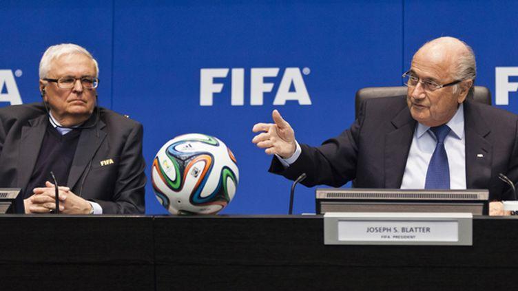 Theo Zwanziger aux côtés de Sepp Blatter