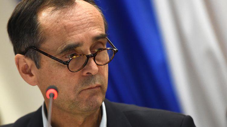 Le maire de Béziers, Robert Ménard, lors d'un conseil municipal, le 18 octobre 2016. (SYLVAIN THOMAS / AFP)