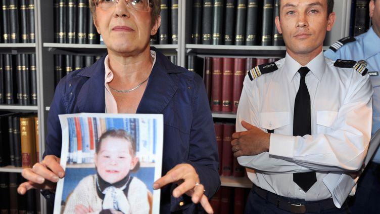 La photo de Marina Sabatiermorte en 2009 à l'âge de 8 ans sous les coups de ses parents. (JEAN-FRANCOIS MONIER / AFP)