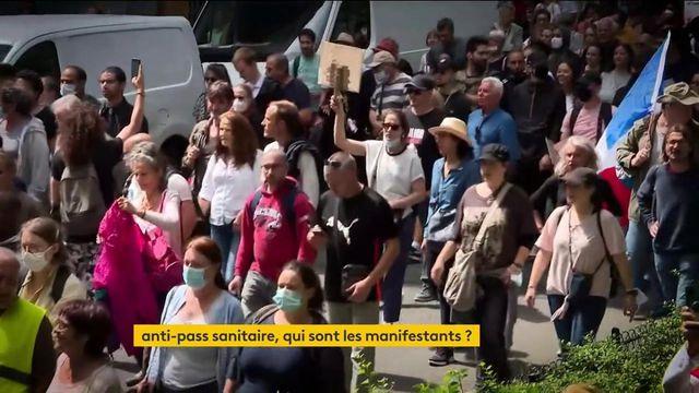Manifestations anti-pass sanitaire : des opposants aux profils variés