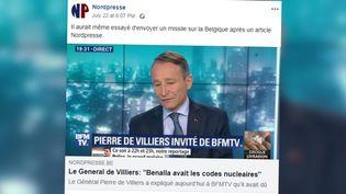 Capture d'écran du site satirique belge Nordpresse. (NORDPRESSE)
